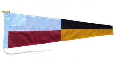 9 nine ics maritime pennant flag